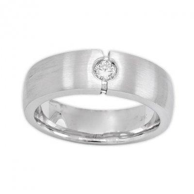 11030aa40e2 Mens Diamond Ring in 14K White Gold Round 0.18ct Men's Diamond Rings ...