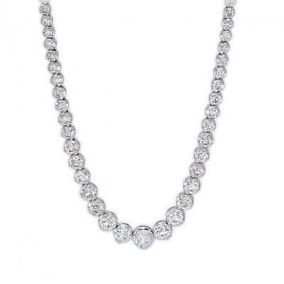 double pin stud necklace fashion diamond of necklaces jewelry circle life