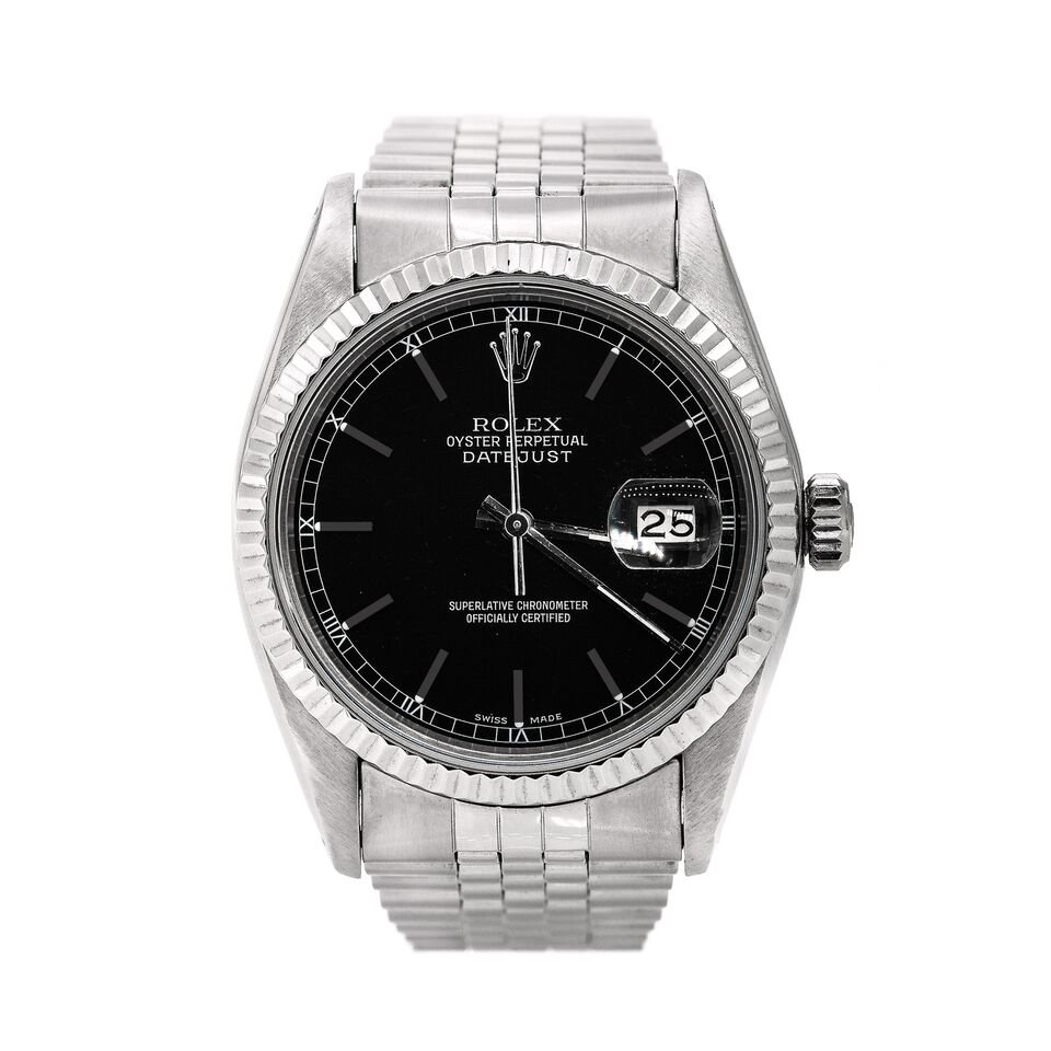 Pre Owned Rolex Date Just 36 Stainless Steel Men Watches