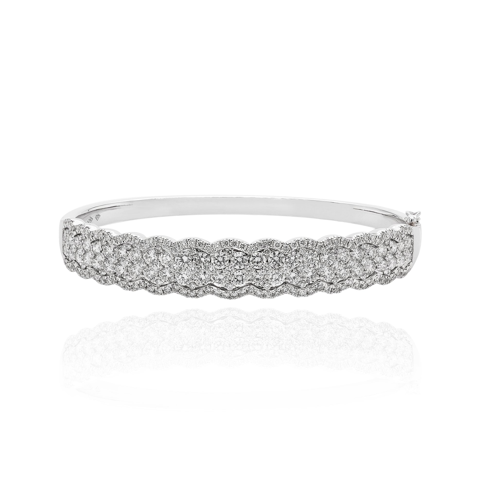 silver street graduated ss bangles sloane sdcb s sterling bangle bracelet product diamond pave white
