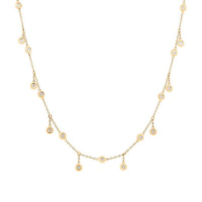 diamond shop small necklace products solid on wanelo horizontal quad gold best stud layering